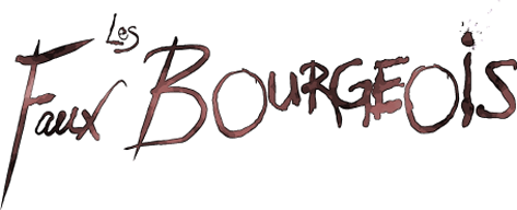 Les Faux Bourgeois logo. Design by Anand Mani--http://www.euchroma.com